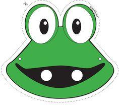 Frog mask free printable
