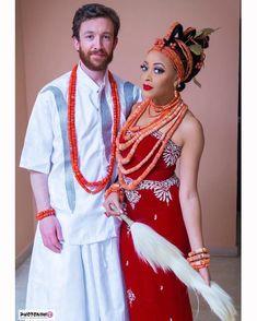 Congrats Nkechi & Sean! ❤@nkechi.bakare.art.advisory #NikiSean2016 : @photonimi MUA @banksbmpro #BellaNaijaWeddings