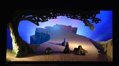 Tristan and Isolde set, designed by David Hockney, Los Angeles, 1987 - Opera