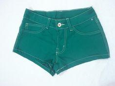 Short Jeans Verde Escuro