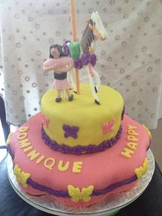 Carrousel Birthday Cake