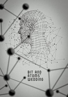 Bit and atoms' wedding + interview - Luca Feliziani Avatar 3d, Parametric Design, Poster Design Inspiration, Concept Diagram, Graphic Design Posters, Data Visualization, Geometric Art, Compass, Art Direction