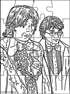 Printable jigsaw puzzles to cut out for kids Harry Potter 39 Coloring Pages