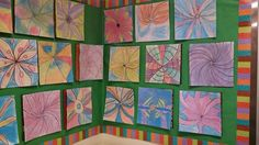 More flowers inspired by Georgia O'Keefe. My second graders did a great job.