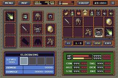 RPG Game: Interface Mockup