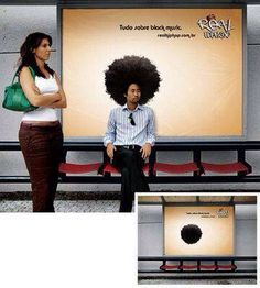 Great use of wide format print to create memorable outdoor advertisement