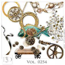 Vol. 0254 Steampunk Sea Mix by D's Design  #CUdigitals cudigitals.com cu commercial digital scrap #digiscrap scrapbook graphics