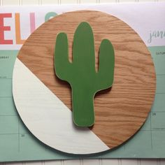 Cactus wood sign Block painted Round green cacti Custom wood signs hand cut scroll saw stained wall decor wall art utah cactus A personal favorite from my Etsy shop https://www.etsy.com/listing/493794428/cactus-wood-sign-block-painted-round