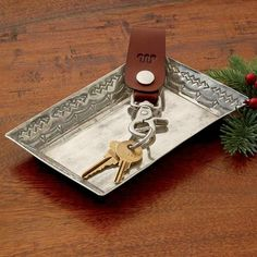 Silver Stamped Tray | King Ranch