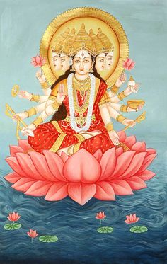 Our huge collection encompasses Paintings of Hindu Gods & Goddesses. ExoticIndia – The online Indian Art Store. Indian Goddess, Durga Goddess, Gayatri Devi, Gayatri Mantra, Pichwai Paintings, Hindu Deities, Hinduism, Krishna Statue, Lord Shiva Family