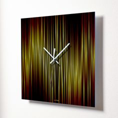 Fire Wall Clock Contemporary Clocks, Contemporary Furniture, Contemporary Style, Home Clock, Tabletop Clocks, Modern Retro, Joss And Main, Wall Design, Decor Styles