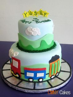 Train Cake star name Trains Birthday Party, Train Party, 5th Birthday, Birthday Cake, Birthday Ideas, Celebration Cakes, Beautiful Cakes, Birthdays, Train Cakes
