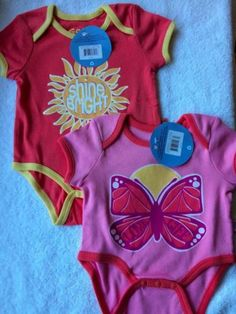 These are TOO CUTE!  The Shine Bright is unisex since we don't know the gender.   Life-is-Good-Baby-Bodysuit-sun-shine-bright-butterfly-love-lift-3m-6m-9-mos-NWT
