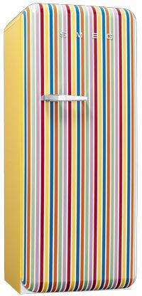 Smeg stripe refrigerator