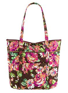 Vera in English Rose | Vera Bradley I have this exact bag in that exact pattern and it is perfect as my school bag.