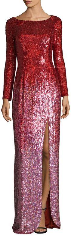 Jenny Packham Women's Silk Sequin Gown