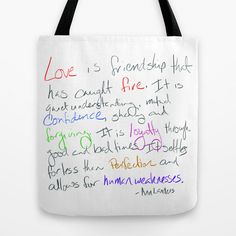 Tote Bag Friendship Quote by Ann Landers Housewarming Gift Wedding Anniversary Engagement Present by RandomOasis
