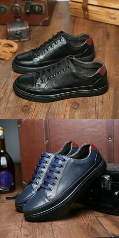 German Wear Business-Chaussures Basses Chaussures en Cuir Lisse Cuir//Cuir de vachette noir