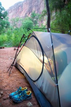 The Havasupai campground (Photo: John Burcham for The New York Times)