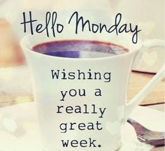 Happy monday images hello monday wishing you a great week monday quotes happy jpg Happy Monday Images, Happy Monday Quotes, Happy Monday Morning, Monday Morning Quotes, Monday Motivation Quotes, Monday Memes, Good Morning Greetings, Monday Monday, Manic Monday