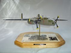 B25B Mitchell bomber / Doolittle Raiders Plaque   Another use of PropBlurs from PropBlur.com on a unique presentation plaque. Model Airplanes, Raiders, Presentation, Unique