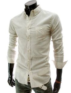 TheLees (HA102) Mens Casual Slim fit Long Sleeve Roll Up Linen Shirts Yellow Large(US Medium) TheLees,http://www.amazon.com/dp/B008H0BS06/ref=cm_sw_r_pi_dp_02oDrb13GNVYF8Y4