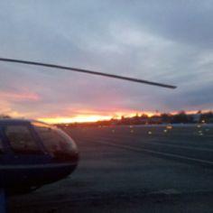 Santa Monica airport at sunset