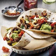 Burrito's met reepjes rundvlees