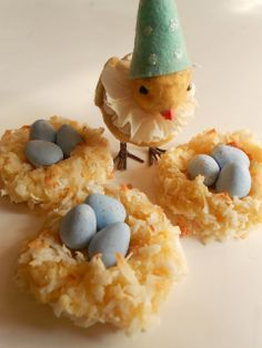 Springtime Sweets ~ Cream Cheese Coconut Cookie Bird Nests