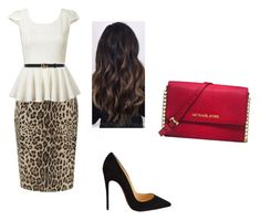 """""""pent"""" by yesica-cruz on Polyvore featuring Precis Petite, Christian Louboutin, Michael Kors and Gucci"""