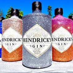 Glitter gin Hendricks Sparkly bottle