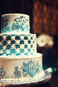 Tiffany Blue Cake Design : Tiffany Blue & White Wedding Cake Design - Williamson ...