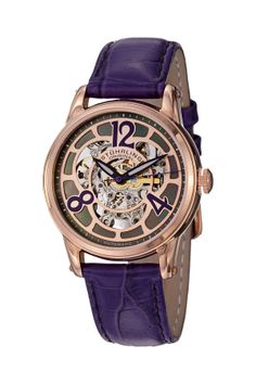Women's Rosetta Automatic Skeleton Mother of Pearl Watch