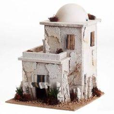 Casa araba doppia con cupola per presepe