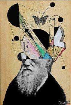 "Saatchi Art Artist Loui Jover; Collage, ""dawin for beginners"" #art"