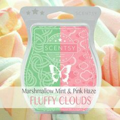 Fluffy Clouds - Marshmallow Mint & Pink Haze