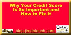 Confused about your credit score & the role it plays in buying a home? Our blog can help! ---> http://blog.jimdolanch.com/why-your-credit-score-is-so-important-and-how-to-fix-it/ #realestate #creditscore #tiptuesday #Pittsburgh