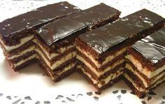 KataKonyha: Csokis mézes krémes Ital Food, Hungary Food, Torte Cake, Romanian Food, Hungarian Recipes, Romanian Recipes, Bakery, Dessert Recipes, Food And Drink