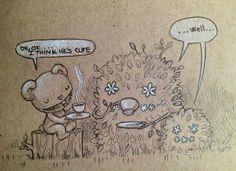 chiara bautista. bear. bushes. tea.