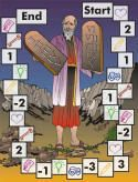 Gameboards for diff Bible lessons...Creation, Moses, 12 tribes, Joseph, Jesus, etc....while the gameboards shouldn't be a problem, if using the links to the site story/questions, use the Bible to check for accuracy