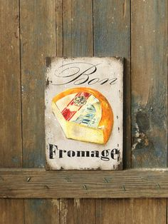 20% OFF French Signs-Bon Fromage Wooden by RusticCraftsbySue