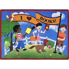 With the advanced technology of today, children can read books online or on mobile devices. However, we should never allow them to miss out on the wonderful experience of visiting their school or local library on this rug. Sitting before shelves of books and choosing one to take home is an experience a child will never forget.