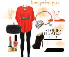 """Tangerine Fun"" by generousgems on Polyvore"