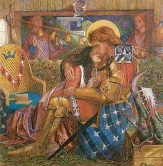 Leo's wall mural   Dante Gabriel Rossetti Painting - The Wedding Of St George And The Princess Sabra by Dante Gabriel Rossetti