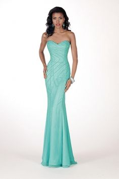Sweetheart mint Mermaid Chiffon Ball Gown