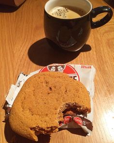 Afternoon snack:  @lennyandlarrys pumpkin spice cookie and coffee.  Calories:210 Fat:7 Carbs:29 Protein:8  #intermittentfasting #fasting #if #healthy #eatbig #bodybuilding #nutrition #workout #leangains #iifym #ifitfitsyourmacros #fit #protein #leangainsmeals #diet #eatclean #foodporn #cleaneating #fitness #instafood  #fitness #gym #meal #lennyandlarrys #cookie #vegan #snack #coffeebreak