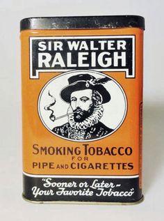 SOLD Vintage Sir Walter Raleigh Collectible Metal Tobacco Advertising Pocket Tin  VATC870