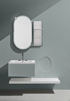 An example with a captivating and modern design is the TU #mirror, which can be coordinated with the color of the #bathroom furniture, available in different version: with and without open wall unit. Open Wall, Bath Design, Bathroom Furniture, Playlist, Modern Design, Mirror, Bathrooms, Home Decor, Zero