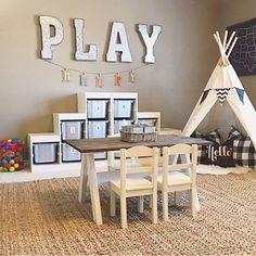 Excuse us while we sit here and drool over a playroom this size...and tidy!  We love how @thedowntownaly used #metal in the letters. Thank you to @riggstownroad for co-hosting with us this week. Please DM her your shipping info. Stay tuned for another fun theme tomorrow.
