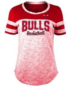 7b7ae3124283 5th & Ocean Women's Chicago Bulls Spacedye T-Shirt - Red M 5 Oceans